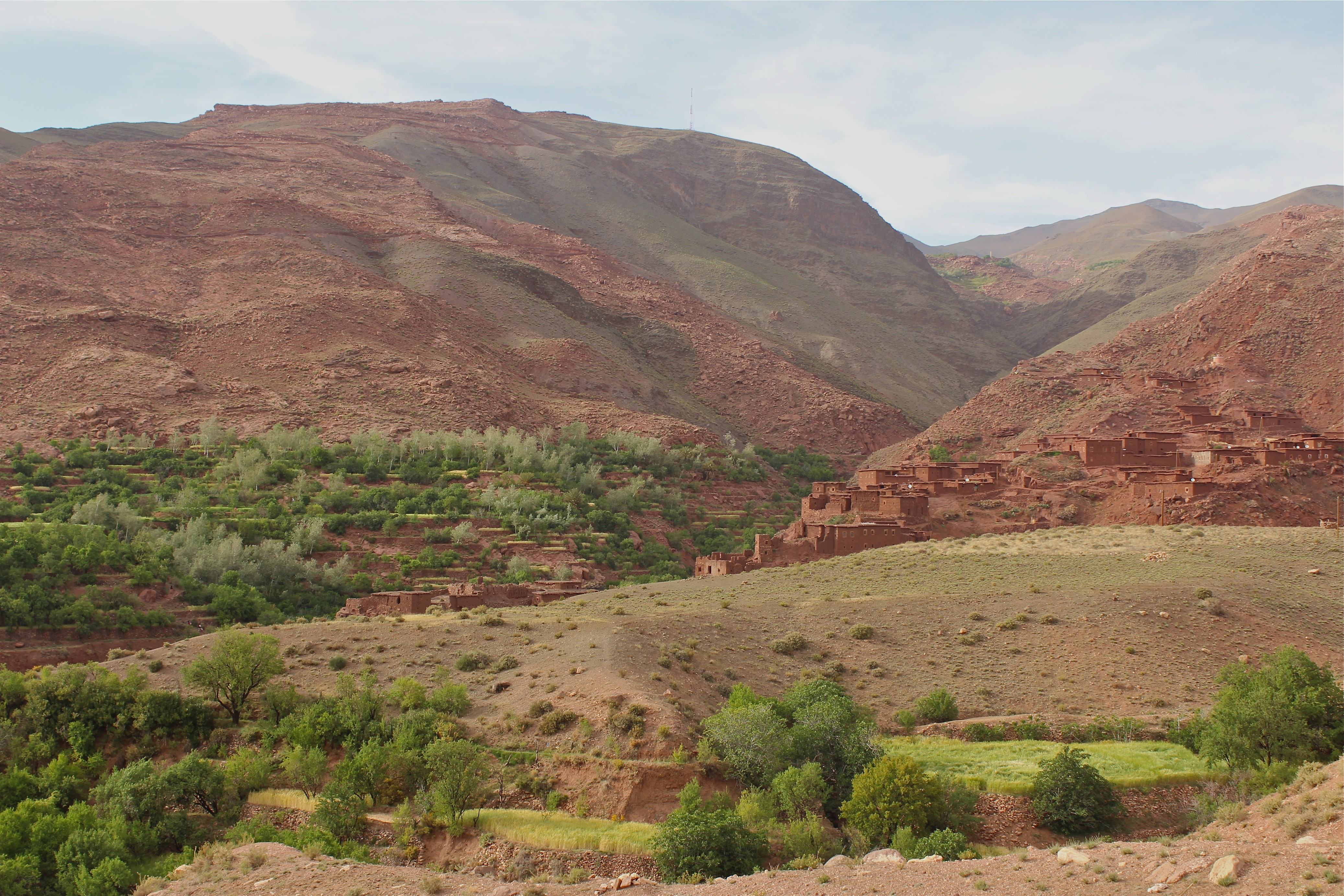 Berber village in the High Atlas mountains, Morocco