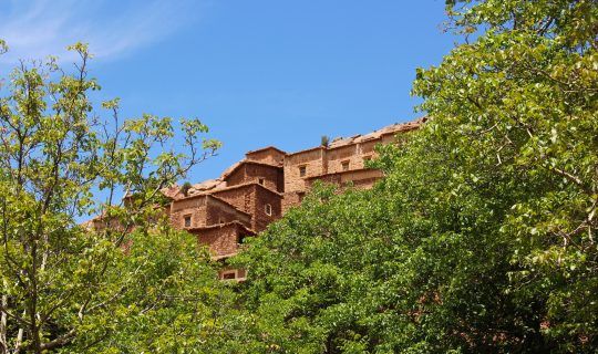 Fortified Berber village of Targa Zouggagh, Valley of Roses, High Atlas mountains, Morocco