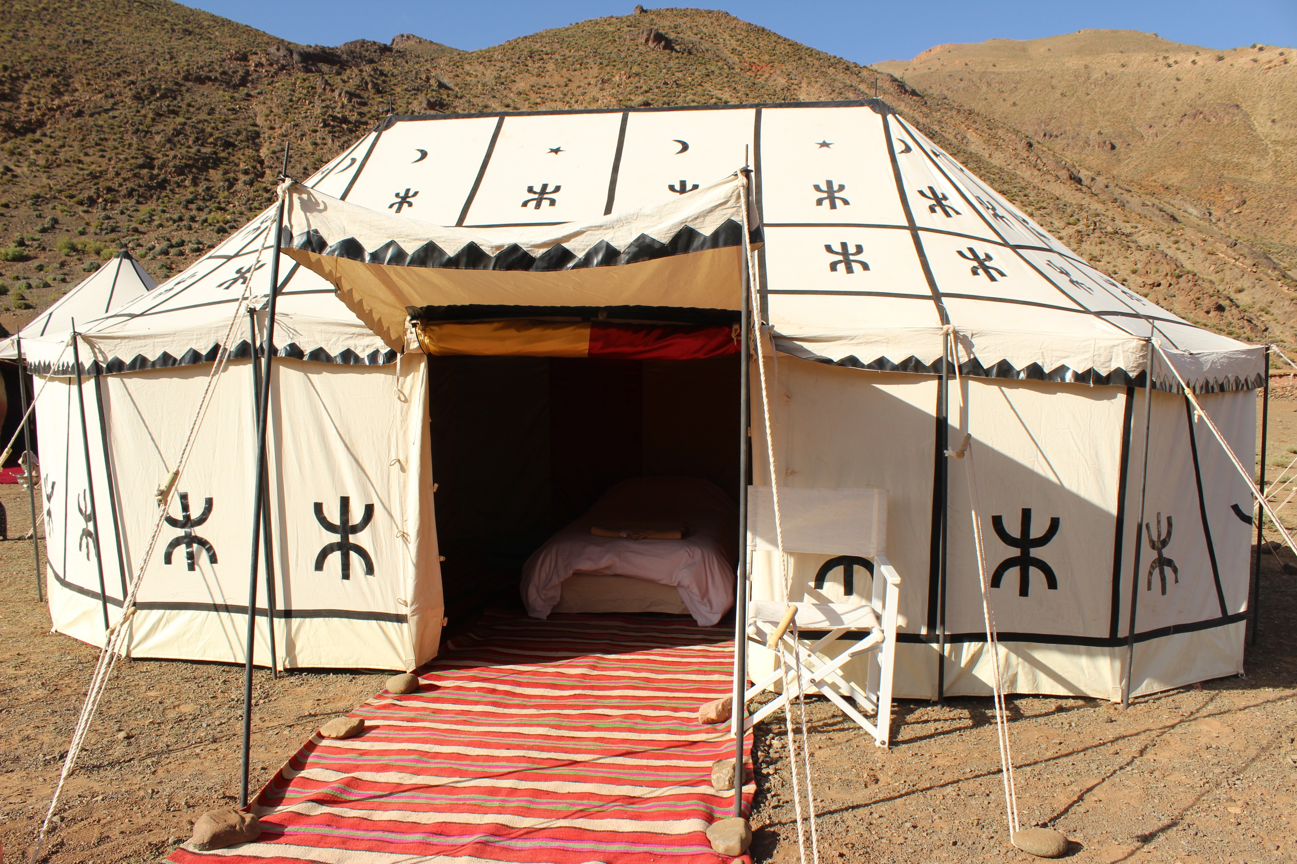 Caidale tent in the Valley of Roses, High Atlas Mountains, Morocco